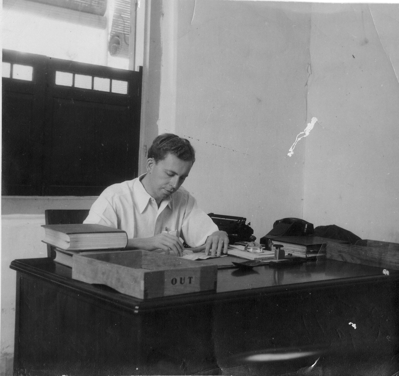Albert Cizauskas in Batavia, 1948